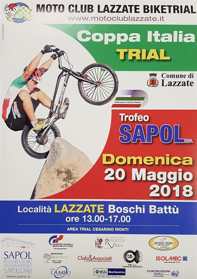 Locandina Coppa Italia Trials Lazzate