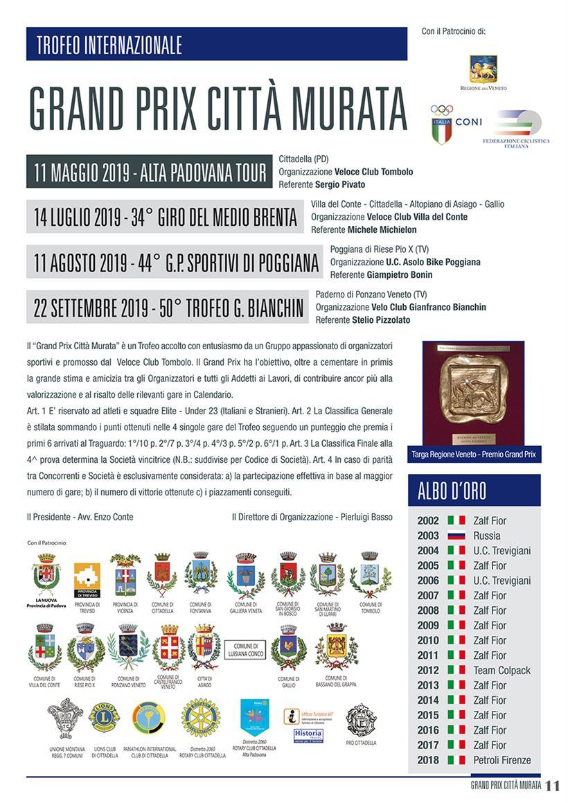 Calendario Luglio 2007.Grand Prix Citta Murata