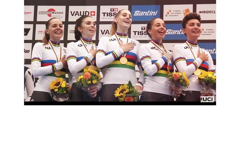 Giada Sciortino Calendario 2020.Mondiali Pista Jrs Il Quartetto Femminile E Ancora D Oro