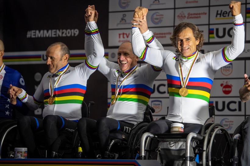 Team Relay Paraciclismo 2019 Zanardi Mazzone Cecchetto