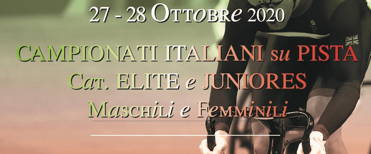 Campionati Italiani Pista Élite Juniores 27 28102020 Locandina